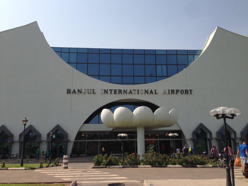 The terminal building at Banjul International Airport.