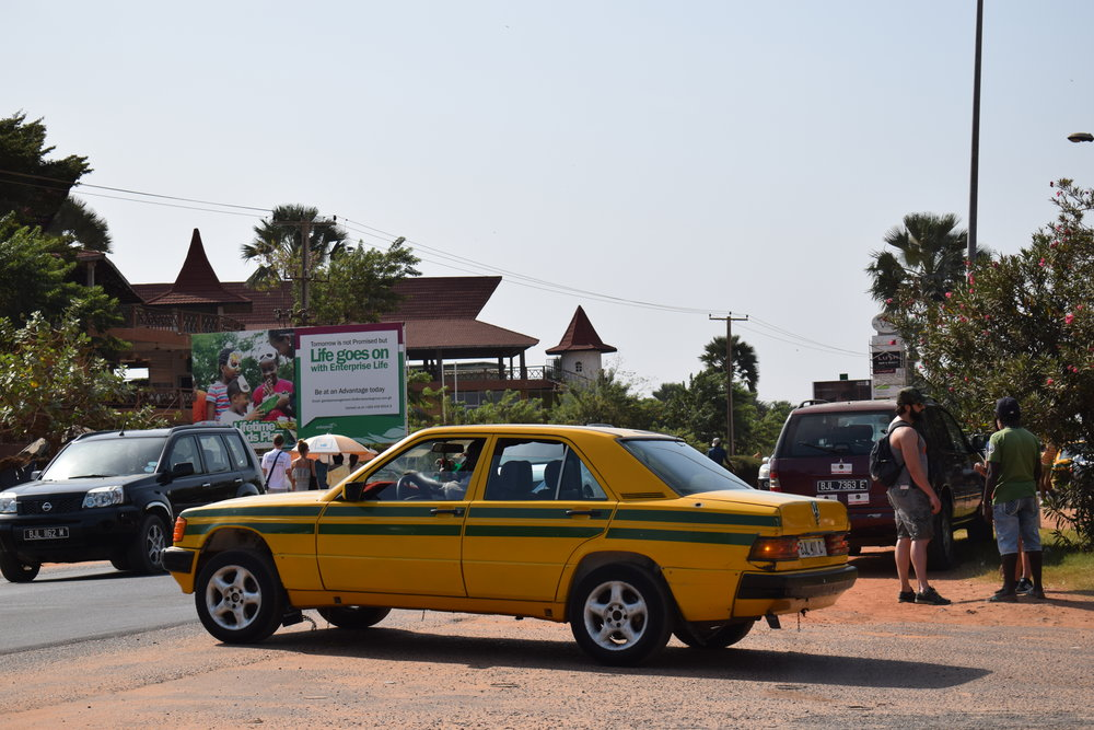 Bush taxis are a cheap and easy way to get around in The Gambia.