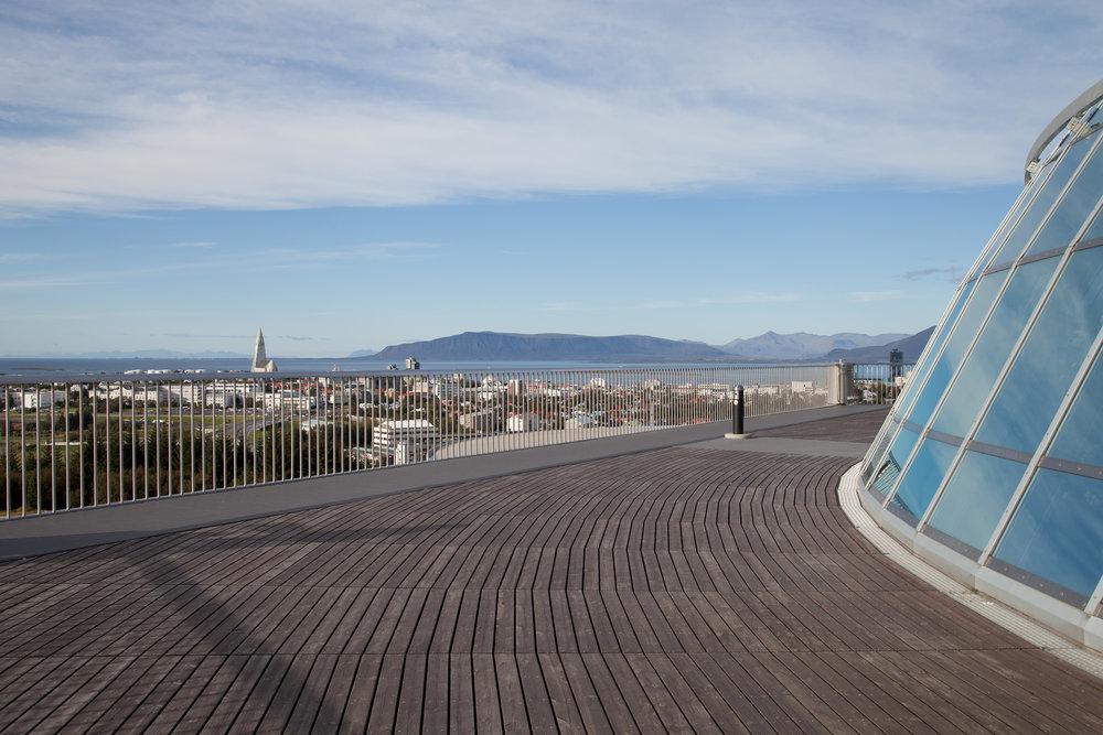Looking towards Reykjavík city centre from Perlan's viewing platform. Image credit: Rachel Knickmeyer/Flickr