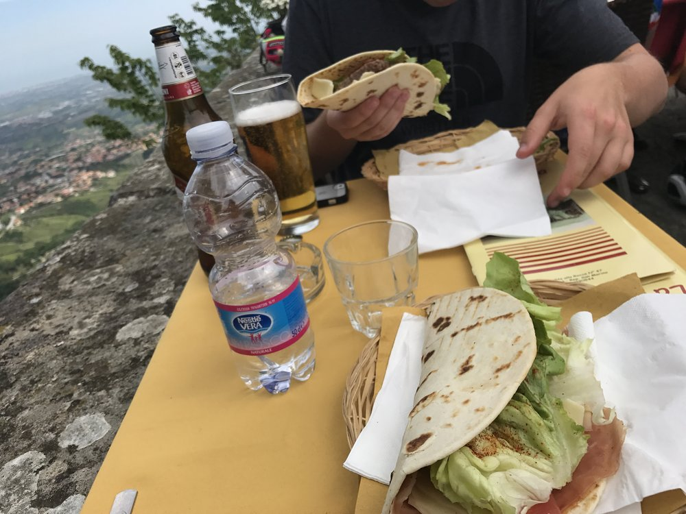 A piadina with a view.