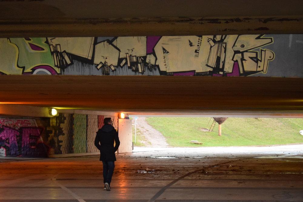A random underpass in Wrocław.