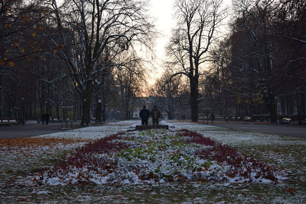 Saxon-Garden-Warsaw-Sunset