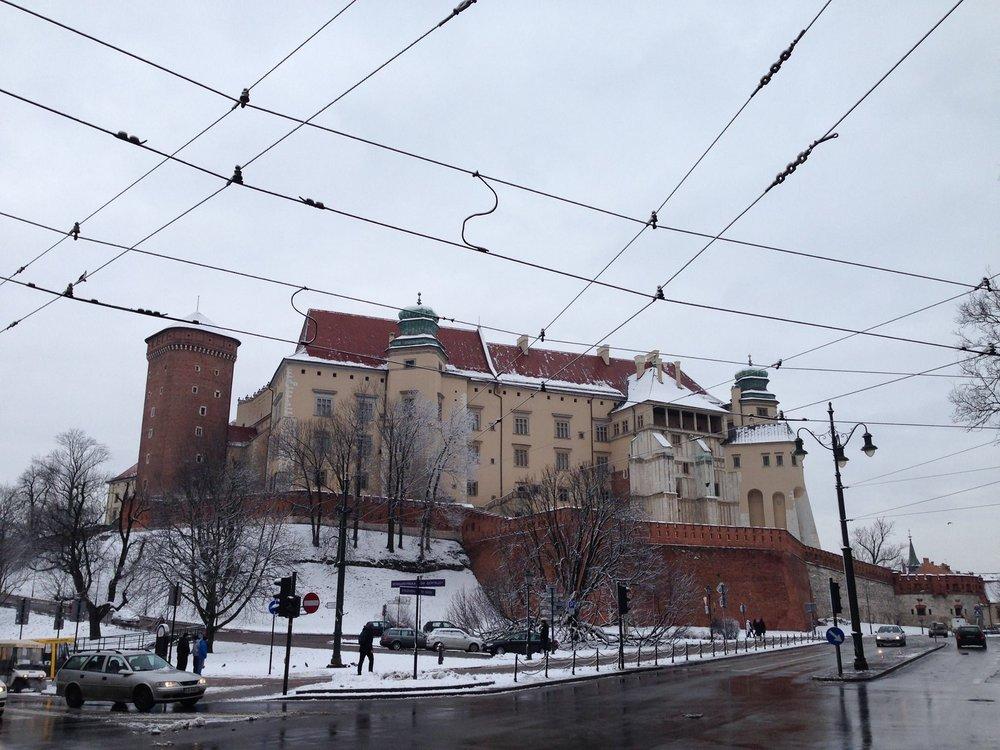 Wawel Castle upon Wawel Hill.