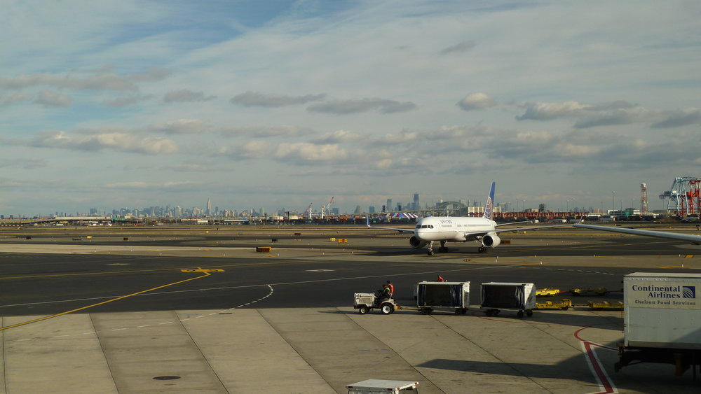 Viewing the Manhattan skyline from across the tarmac at Newark Liberty International Airport. Image credit:  Ken Lund / Flickr