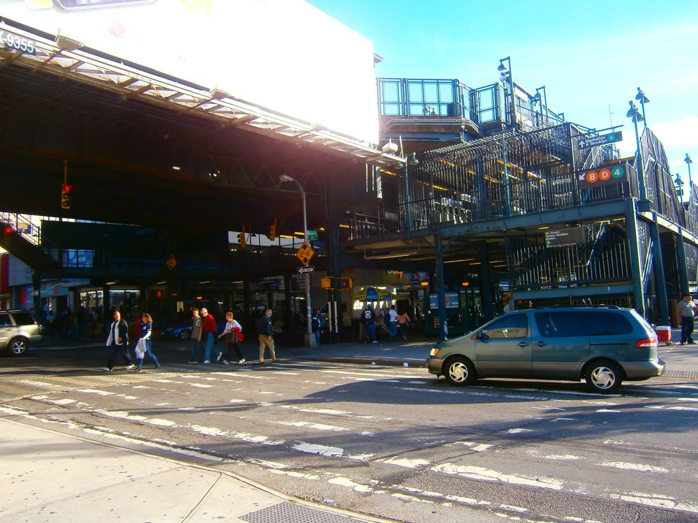 The Subway station outside Yankee Stadium.