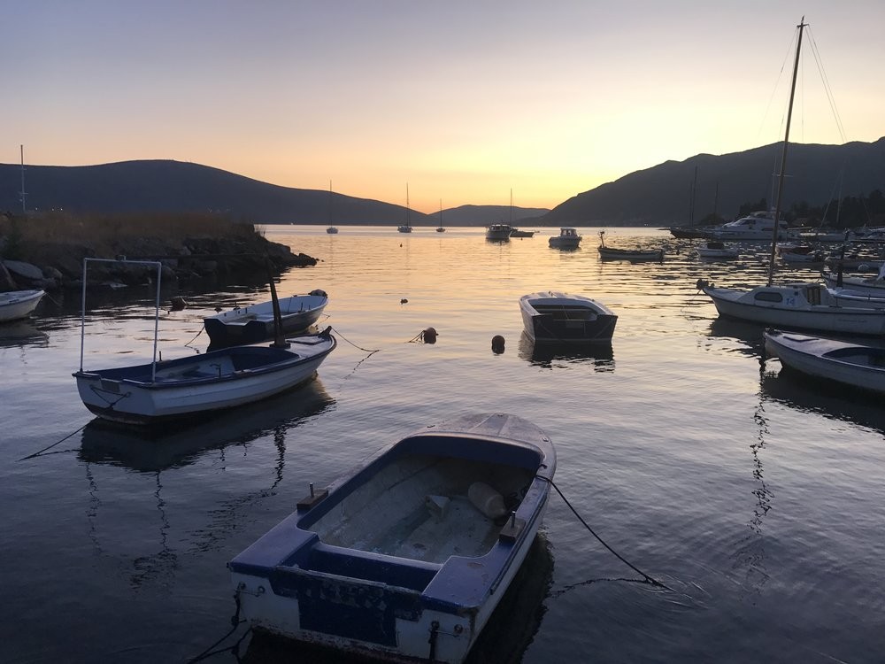 Boats docked in Tivat.