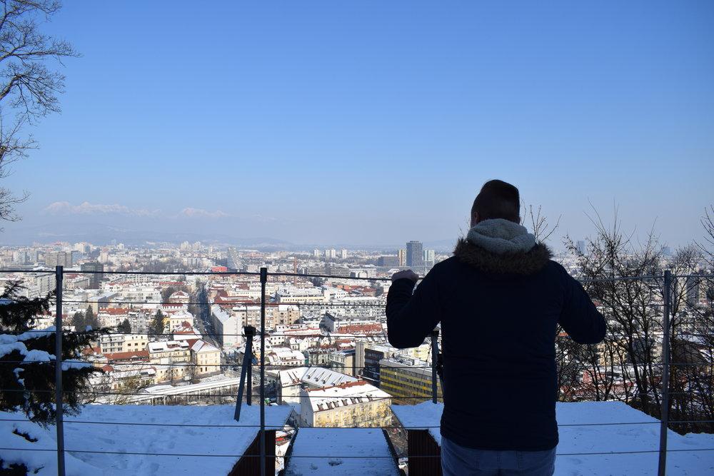 Looking over Ljubljana, Slovenia.