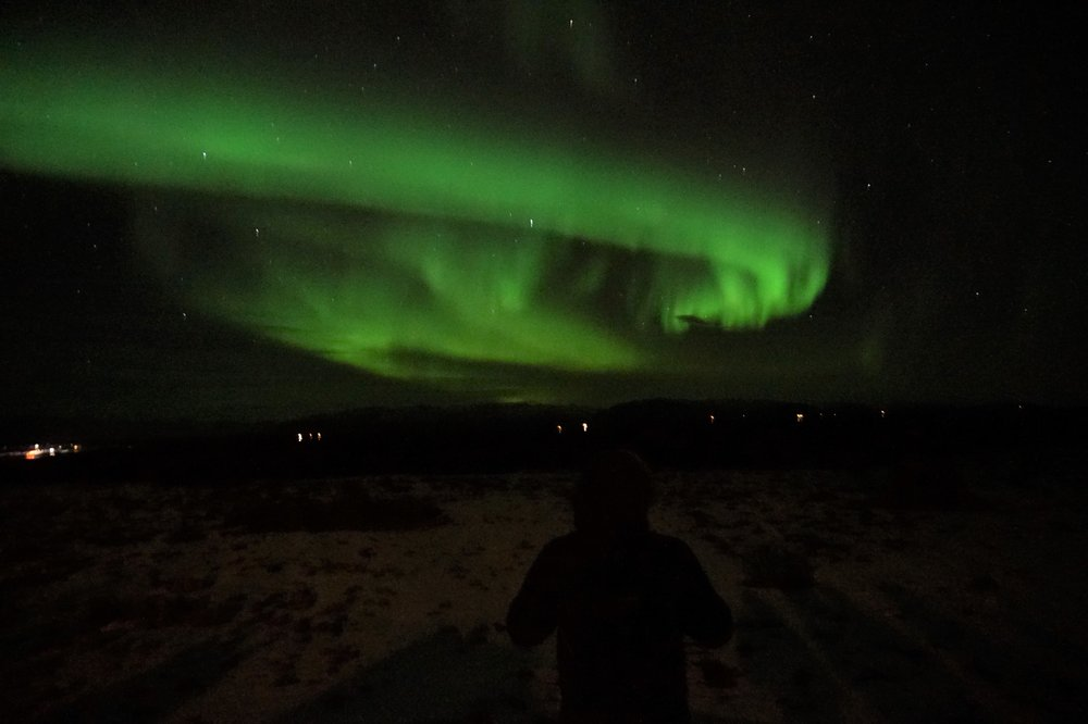 Finally seeing the Northern Lights in Iceland!