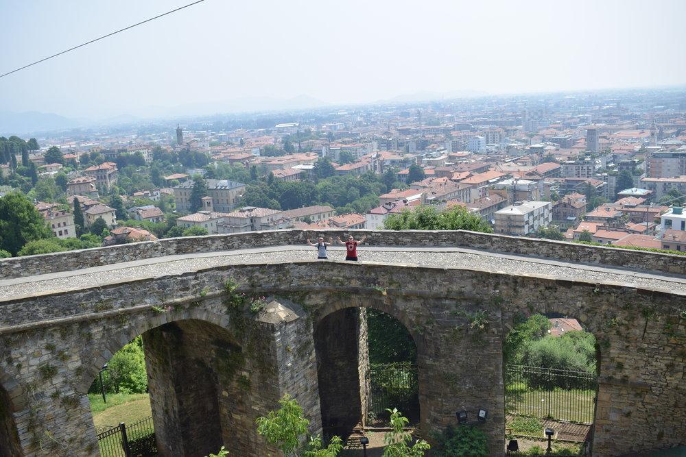 Hands in the air in Bergamo, Italy!