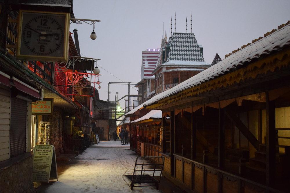 Izmailovo-Market-Sunset-Evening