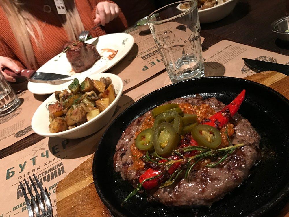 Jalapeno steak at    Butcher Steak House   .