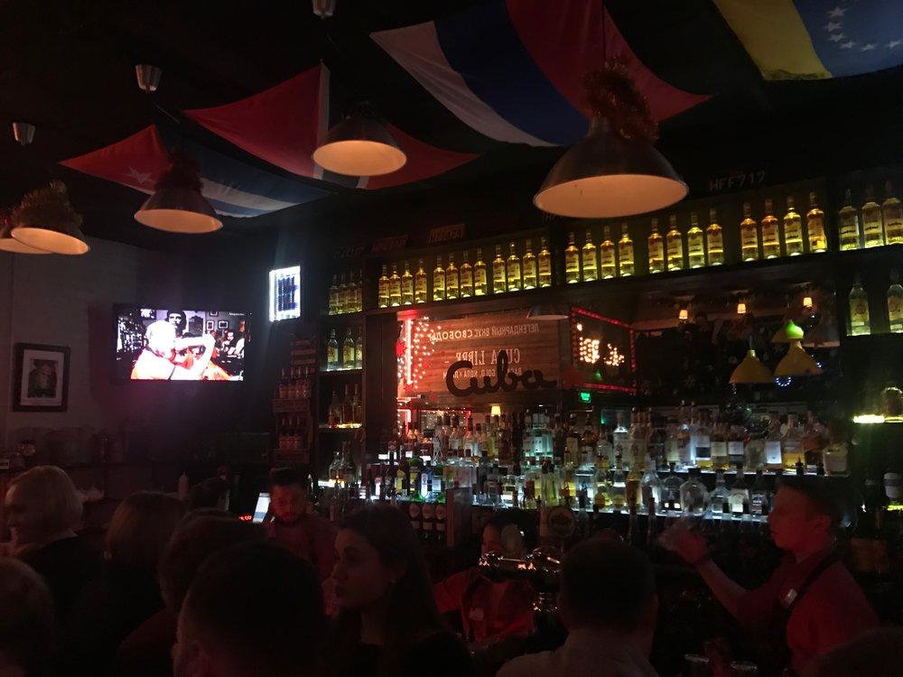 Partying the night away at Cuba Libre.