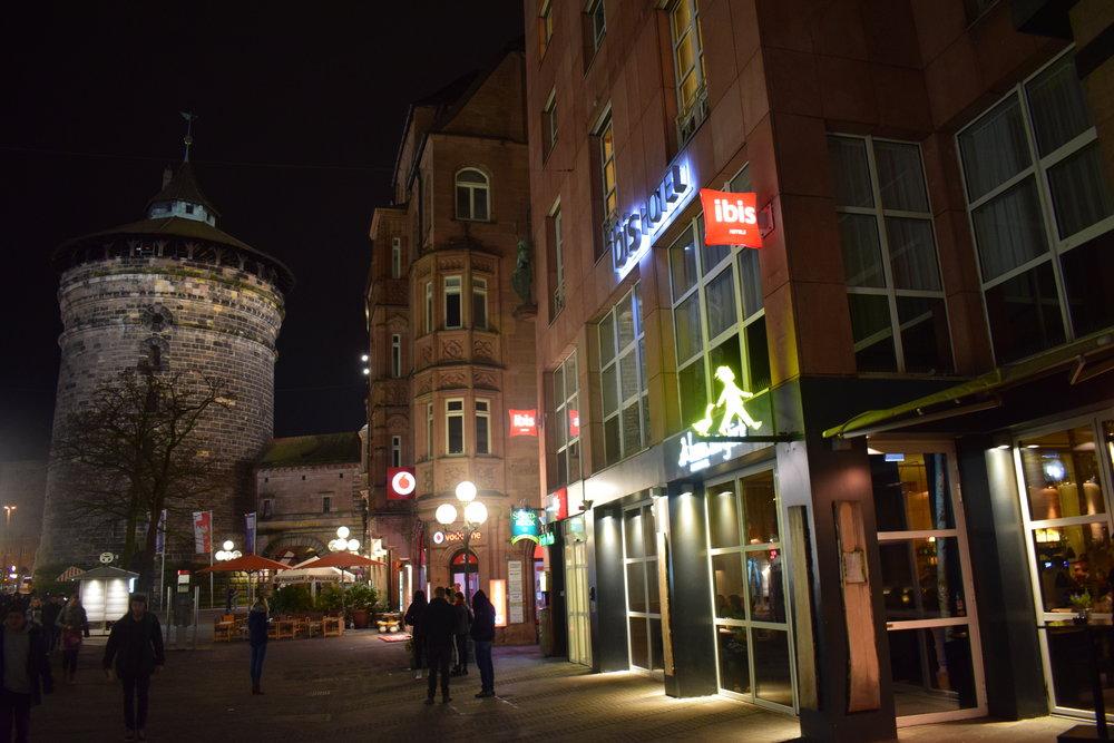 HANS IM GLÜCK sits just inside the city gate.