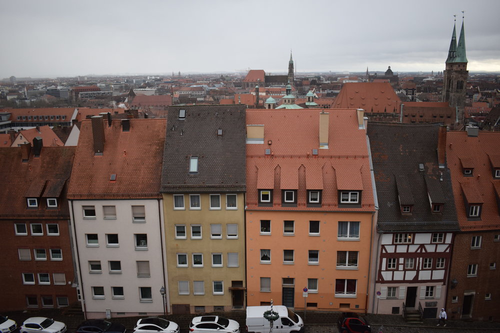 Looking out over Nuremberg.