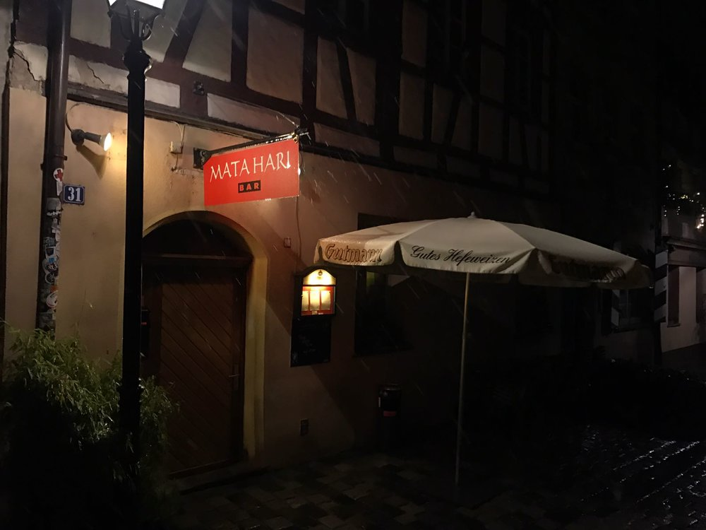 The    Mati Hara Bar    is one of Nuremberg's smallest, but most lively.