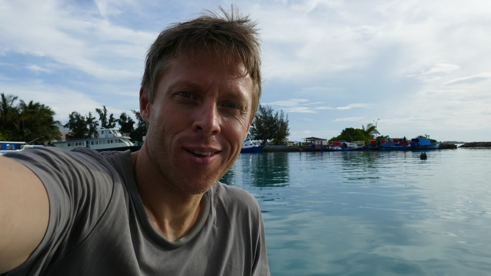 Gunnar Garfors counts 198 countries in total. including the Maldives, where his is pictured here. Image credit:  Gunnar Garfors