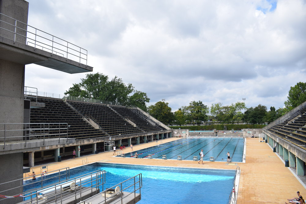 The old Olympic swimming and diving facilities are open to the public in the summer.