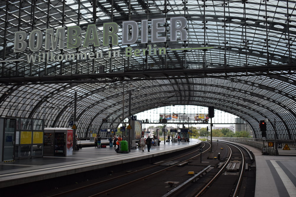 Berlin Hauptbahnhof - one of the city's main gateways.