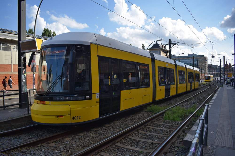 One of Berlin's new and shiny trams!