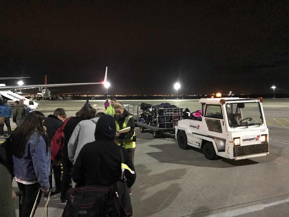 People part with their bags on the tarmac now thanks to Ryanair's new rules.