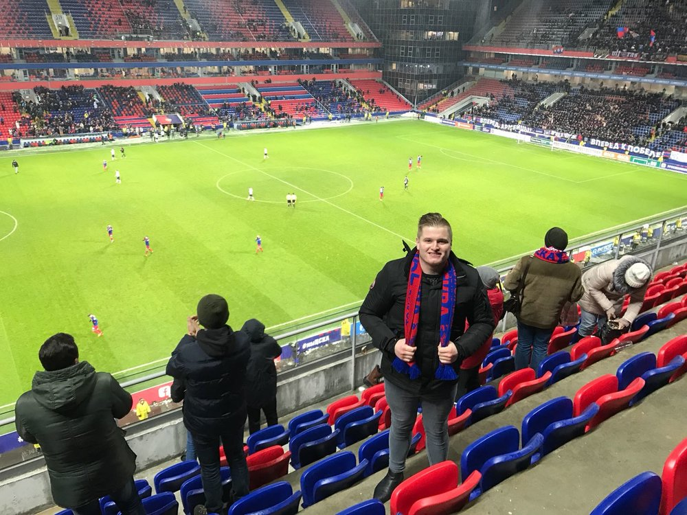 Going to a football game in Russia was a great experience - despite being a foreigner.