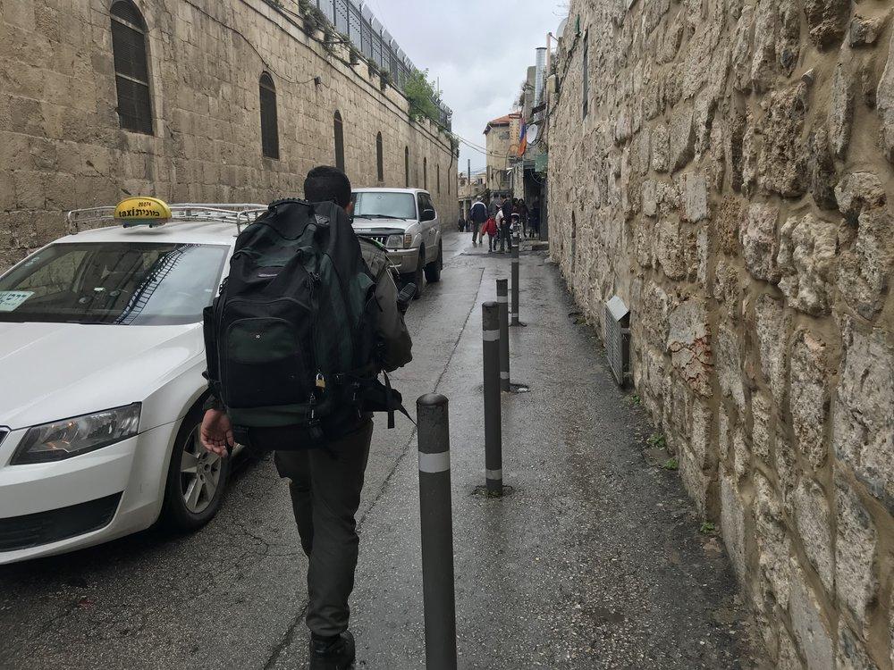 Good Friday, bad weather in Jerusalem.