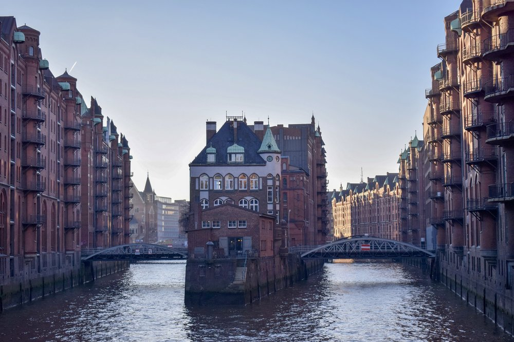 Speicherstadt, Hamburg's warehouse district.