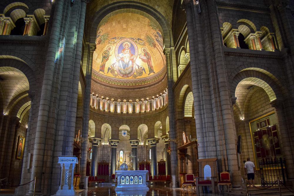 Saint Nicholas Cathedral Monaco's interior.