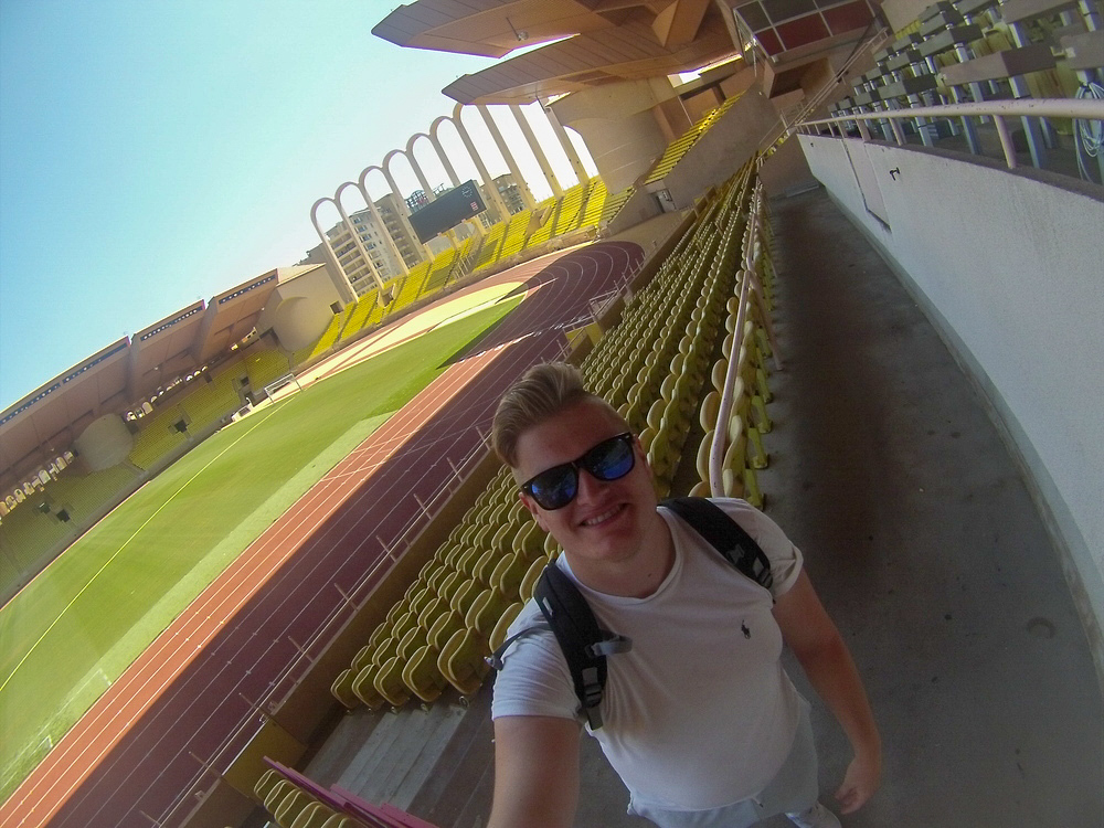 There's plenty of opportunity to take pictures on the Stade Louis II tour.