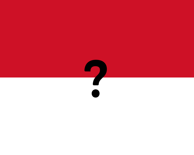 Flag Of Monaco Question Mark