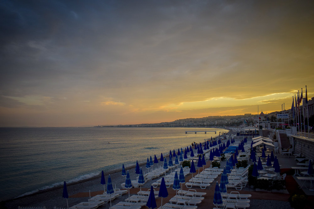 Nice's picturesque Promenade des Anglais.