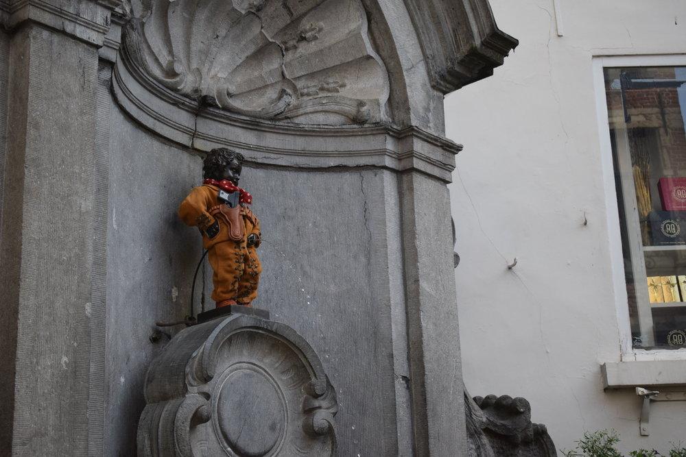 Mannekin Pis - a Brussels icon.