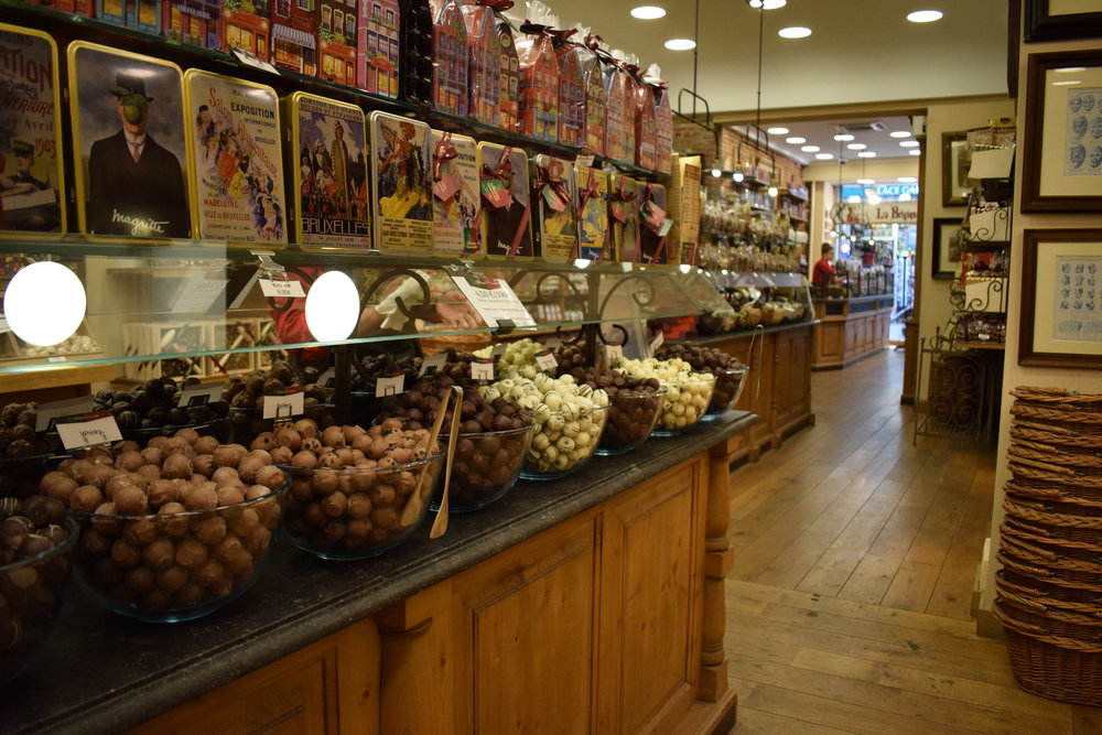 Chocolate shops are a staple of Belgian culture.