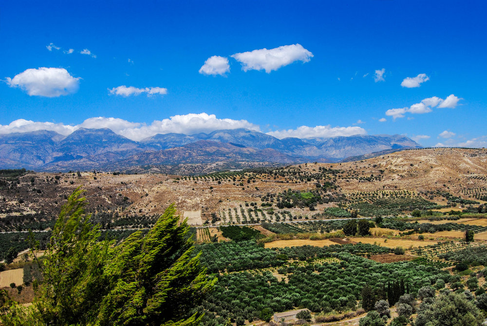 Stunning rural scenery is a common sight on the Greek island of Crete. Image credit:  Andy Montgomery / Creative Commons