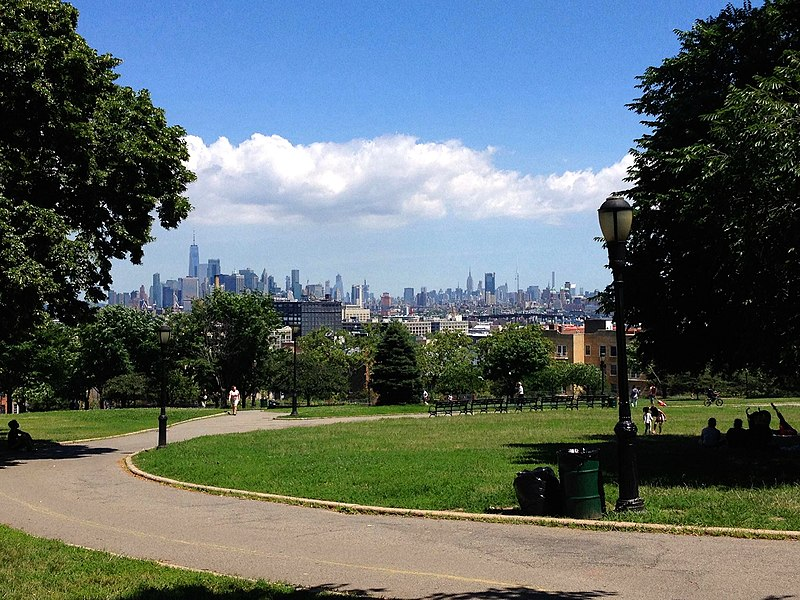 A view of downtown Manhattan from Brooklyn's Sunset Park. Image credit:    A. Kirkwood Spence   /   Creative Commons