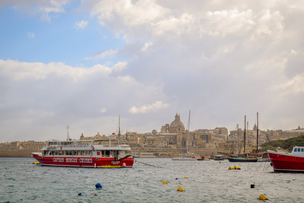 Looking across the bay from Sliema to 2018 European Capital of Culture and Maltese capital, Valletta.