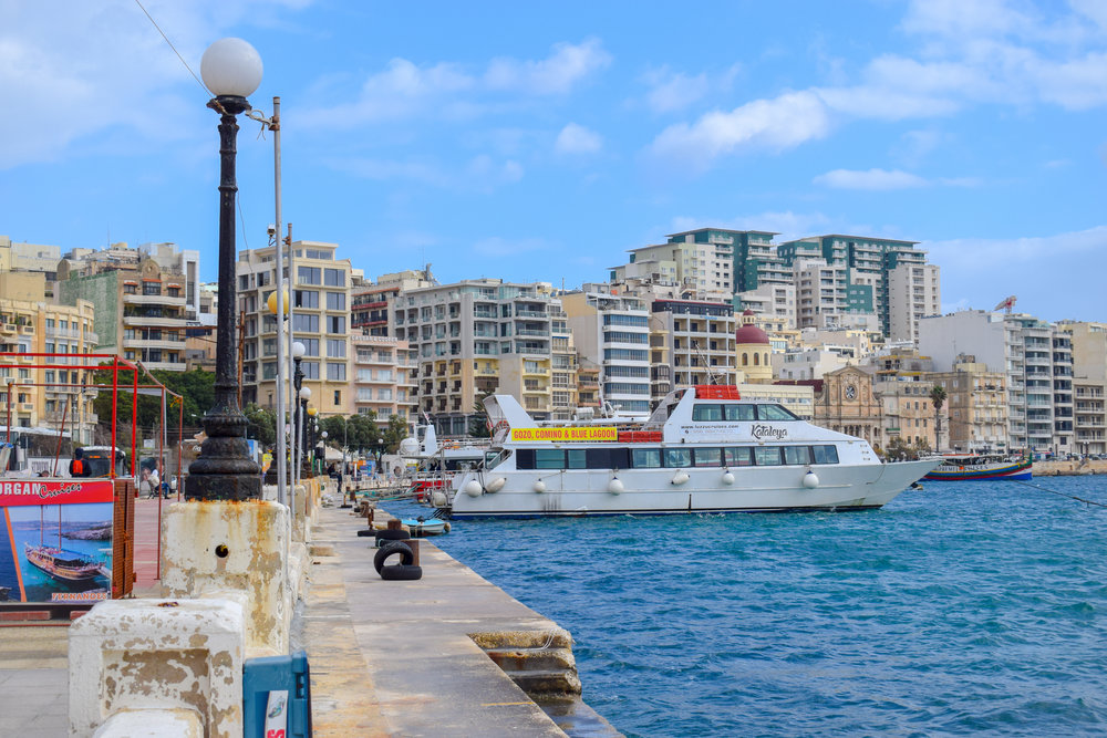 Sliema isn't Malta's number one activity spot, but chances are you'll be staying here if you're visiting outside the summer months.