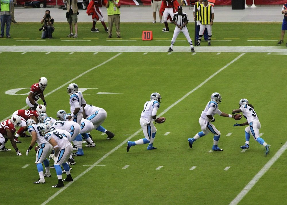 The Carolina Panthers take on the Arizona Cardinals. Image credit: Cedward Brice/   Creative Commons
