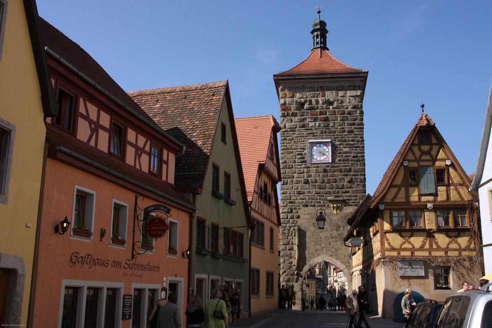Walking through Rothebnurg ob der Tauber's streets will make you feel as though you've gone back in time. Image credit:    Stefan   /   Creative Commons