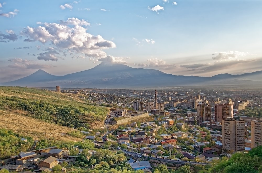 The beautiful landscape of Yerevan.