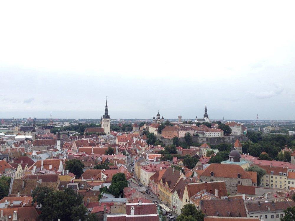 Tallinn-Olaf-Church-View