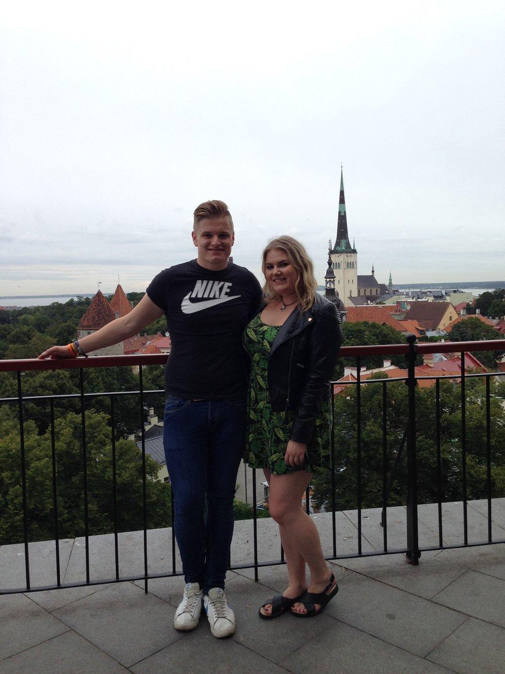 Couple-Toompea-Hill-Lookout-Tallinn