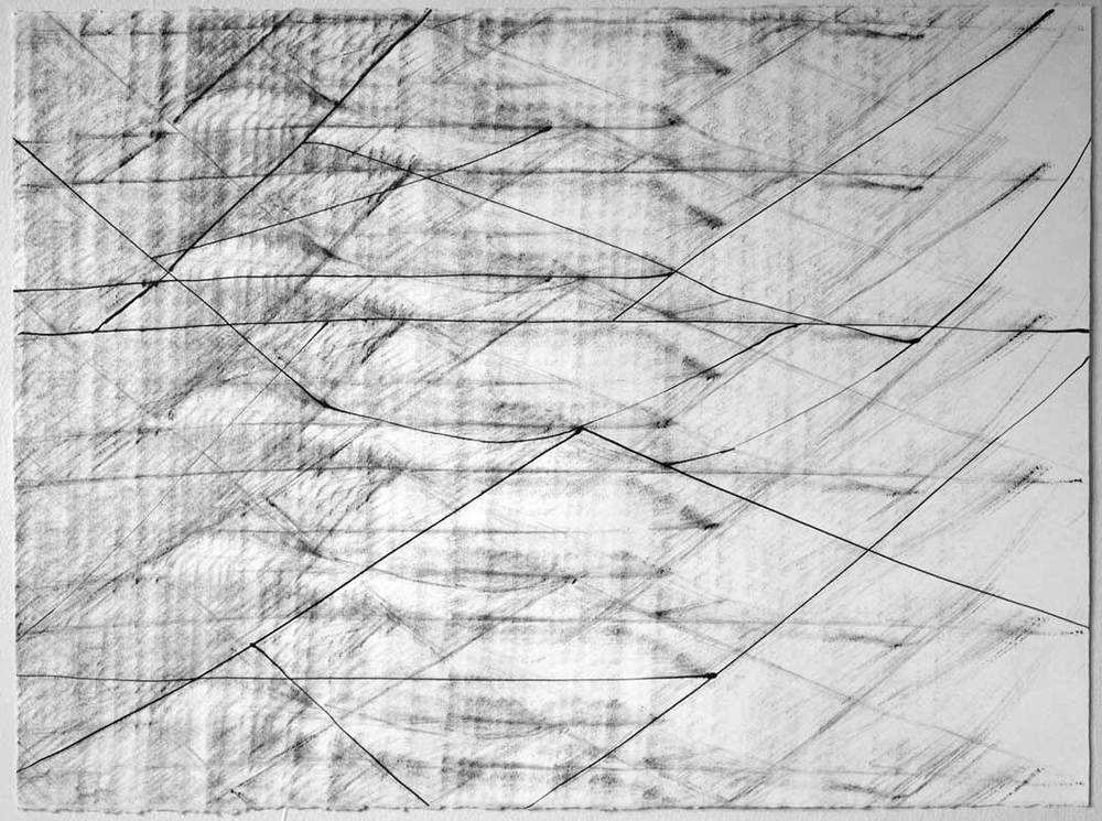 Trapeze M, 24 x 30 in, ink on paper, 2012