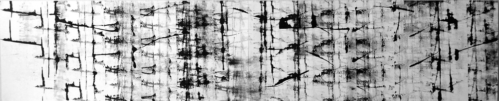 Untitled, 14 x 68 in, ink on paper, 2011