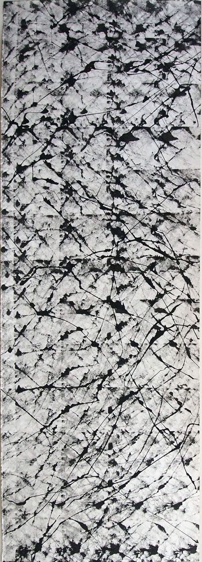 Untitled, 66 x 22 in, ink on paper, 2012
