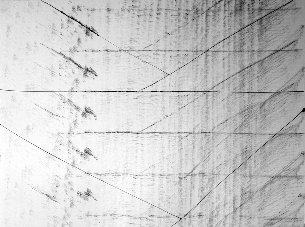 Prisms 4, 20 x 30 in, ink on paper, 2011