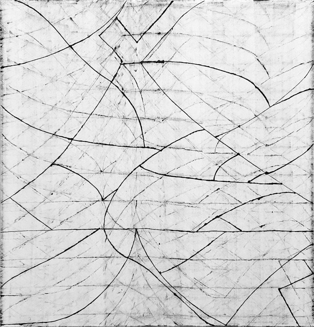 Soleus, 50x48 in, Oil on Canvas