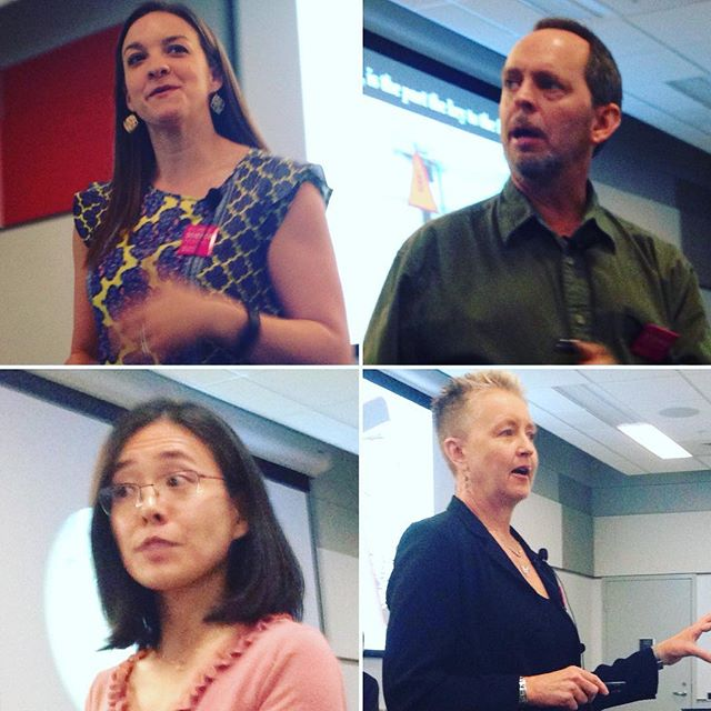 #atlscifest four provocative talks on the Anthropocene epoch, we interviewed these profs after, podcast coming soon.