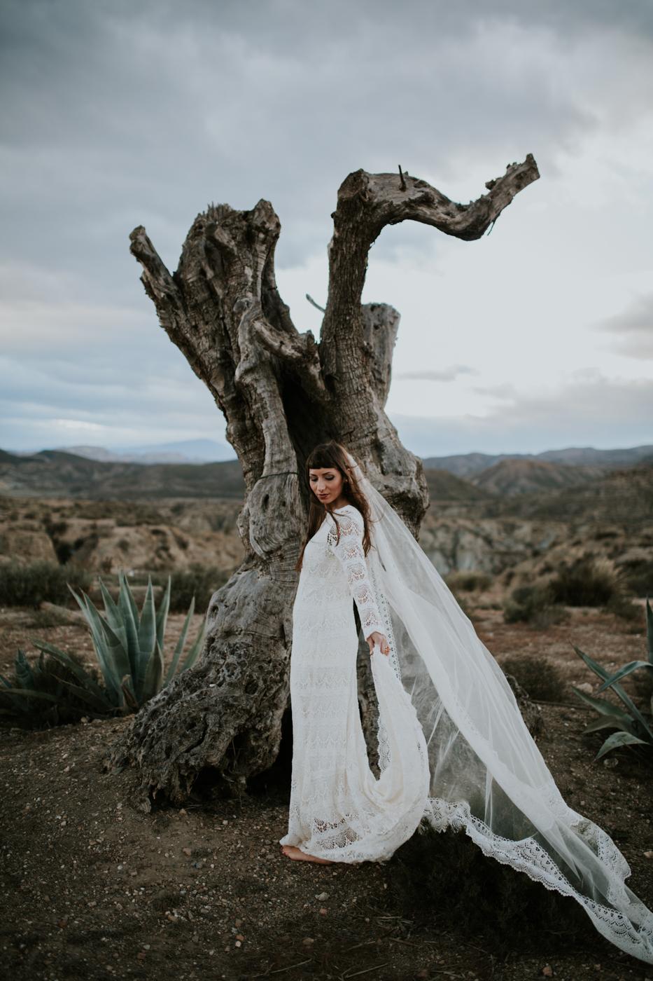 Boho bride style shoot