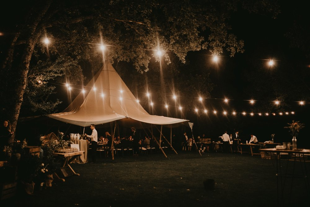 tipi wedding woods